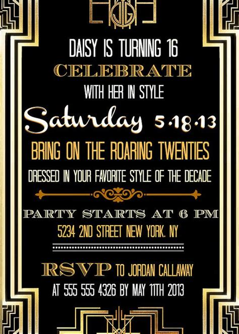 17 best ideas about great gatsby invitation on pinterest