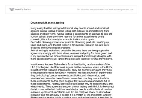 Animal Testing Benefits Essay by Animal Experimentation Essay Gas Exchange Gcse Science Marked By Teachers Ayucar