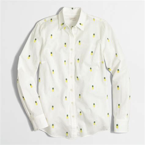 Button Cotton Shirt s classic button shirt in printed cotton