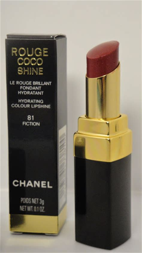 Chanel Lipstick Fiction jayded dreaming 81 fiction chanel coco shine hydrating colour lipshine