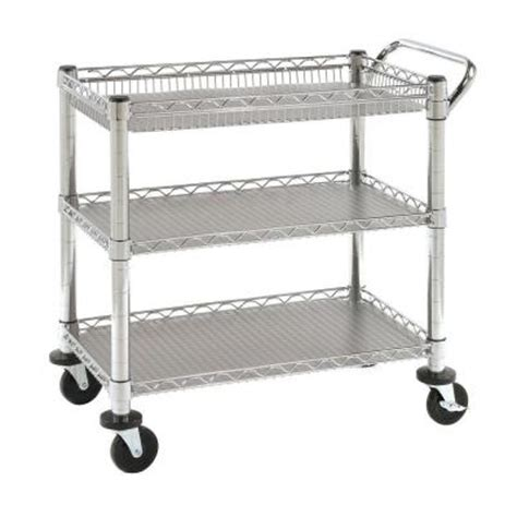 Home Depot Cart by Seville Classics Heavy Duty Utility Cart She99307 The