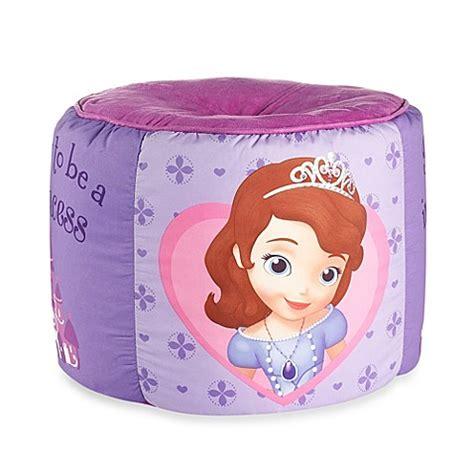 sofia the first bathroom set disney 174 sofia the first printed pouf bed bath beyond