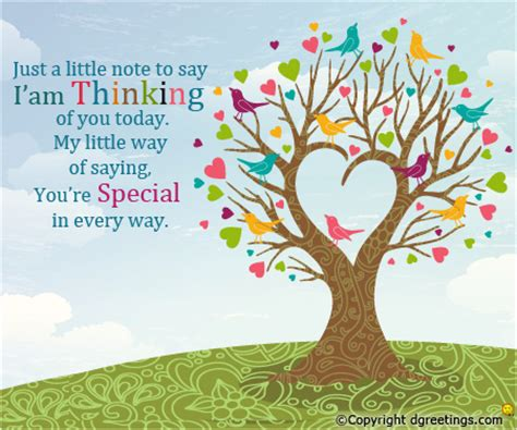 free just thinking of you card templates printable just a note thinking of you cards