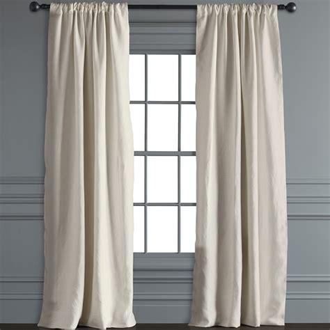 draping curtains over a rod signature linen rod pocket drape ivory williams sonoma
