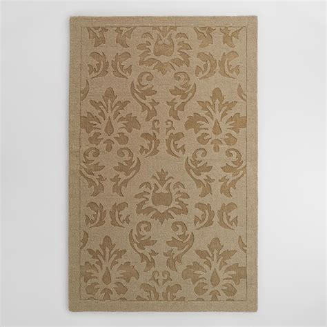 wool floral rugs oatmeal floral carved wool adele area rug world market