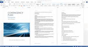 Business Contingency Plan Template by Contingency Plan Templates Ms Word 9 X Excels