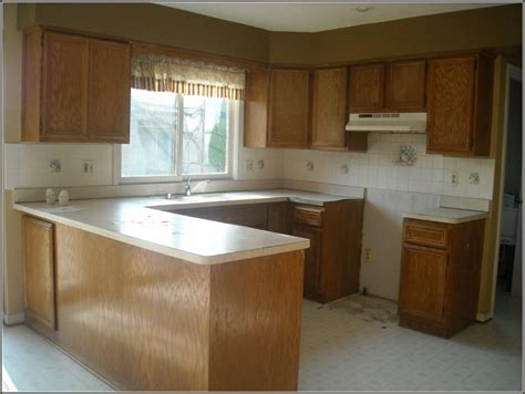 Refurbished Cabinets by Refurbished Kitchen Cabinets Before And After Home