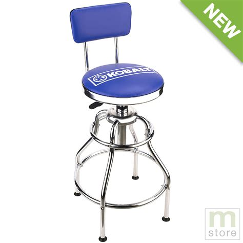 shop bar stool kobalt adjustable hydraulic stool mechanic seat chair work