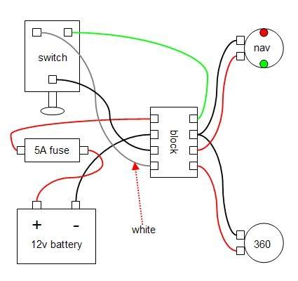 wiring up boat navigation lights simple diagram wiring radar