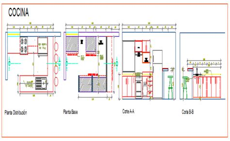 Kitchen Working Drawing Dwg