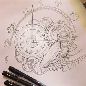 broken pocket watch drawing google zoeken tattoos and