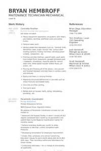 Tim Hortons Resume Exle by Concrete Finisher Resume Sles Visualcv Resume Sles Database