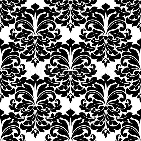 vector background pattern black and white black and white damask seamless pattern for background