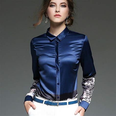 Blouse Jumbo Cities 24 wonderful wearing satin blouses sobatapk