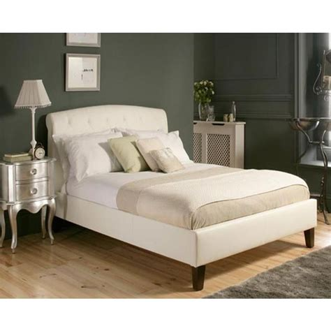 queen bed frame white mono lisa queen size pu leather bed frame in white buy