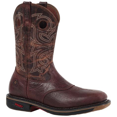western square toe boots for s rocky 174 ride square toe western work boots bay