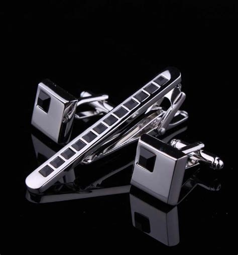 Jepit Dasi Silver Slim Pin Tie 12 mens silver stainless steel 6 0cm tie clip clasp bars pins cufflinks set ebay