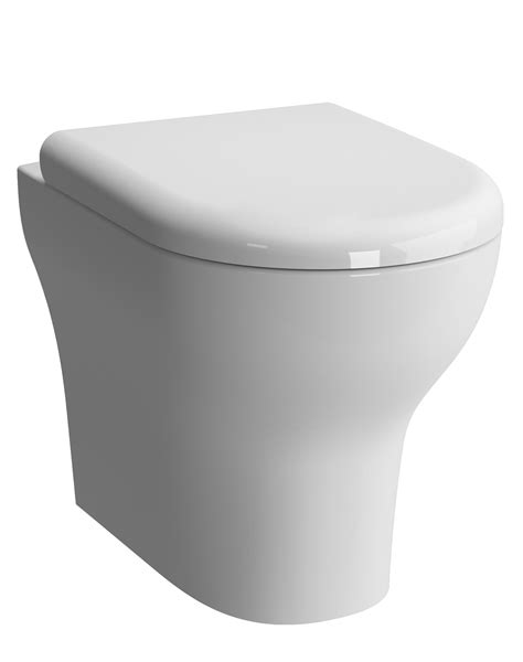 Vitra zentrum 520mm back to wall wc pan with toilet seat 5788l003 0075