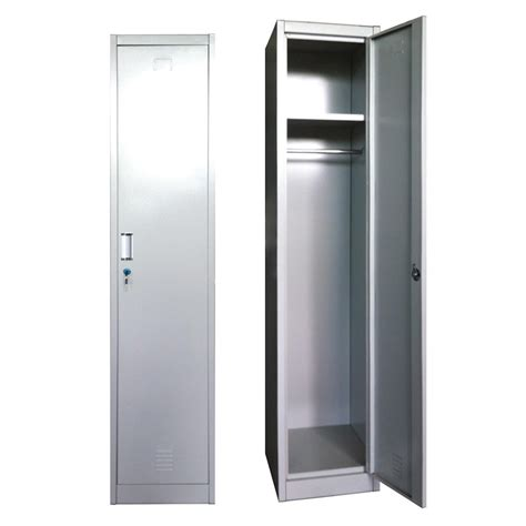 Single Door Wardrobe Closet Wholesale Single Door Steel Wardrobe Locker Metal Cupboard Almirah Iron Closet For School