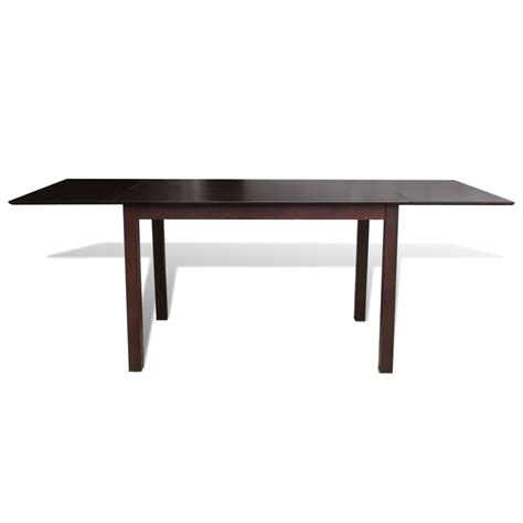 Extending Wooden Dining Table Solid Wood Brown Extending Dining Table 195 Cm Vidaxl Co Uk