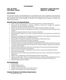 It Auditor Description by Sle Auditor Description 10 Exles In Word Pdf
