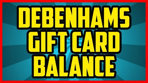 Check Gift Card Balance Debenhams - how to check the balance on a debenhams gift card 2017 easy debenhams gift card