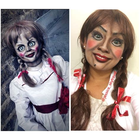 annabelle doll halloween makeup annabelle doll makeup costume halloween makeup