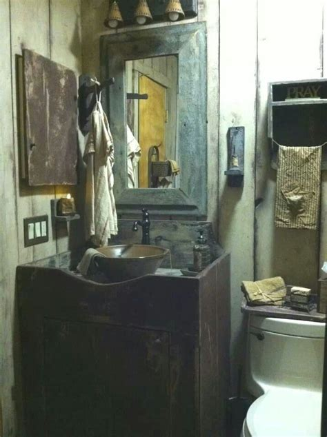Primitive Bathroom by Pin By Bowman On Primitive Bathrooms