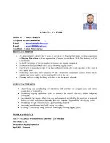 Rigging Superintendent Sle Resume cv konain alam ansari rigging supervisor 2015