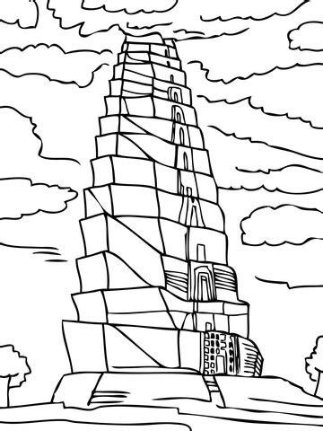 imagenes para colorear torre de babel dibujo de la torre de babel para colorear dibujos para