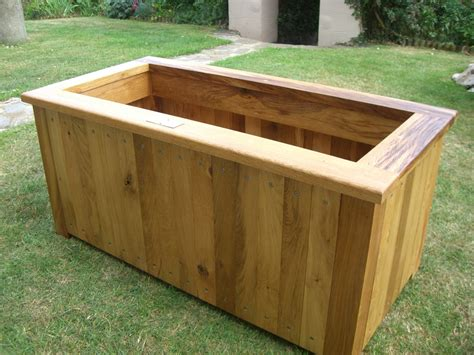 made wooden planters custom oak planters from