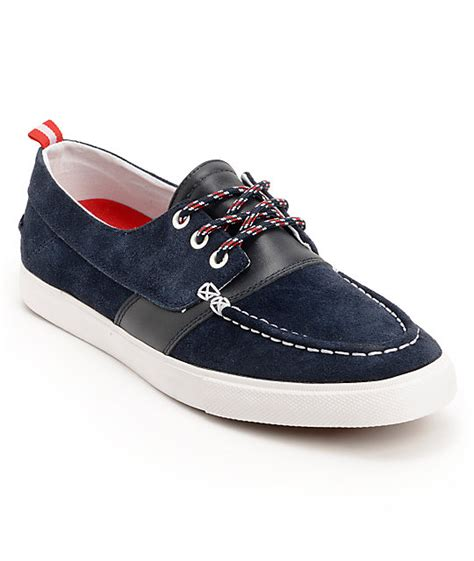 local boat supply store diamond supply co yacht club navy suede boat shoes zumiez