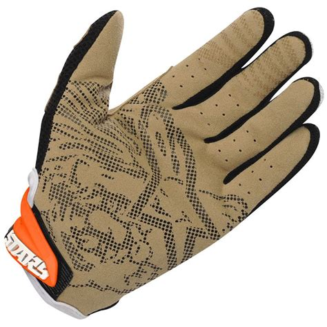 alpinestars motocross gloves alpinestars techstar mx motocross gloves orange 2 my