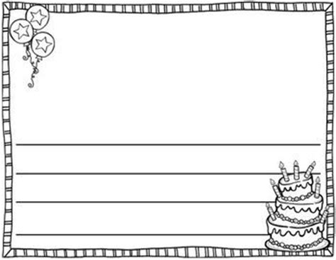 birthday writing paper happy birthday writing paper kids printables writing