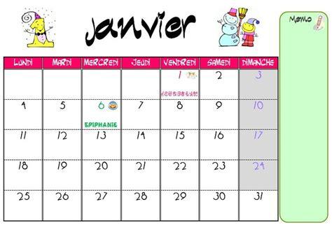 janvier 2016 calendrier calendrier