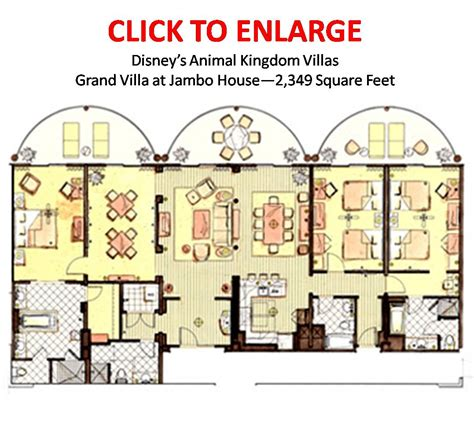 animal kingdom 2 bedroom villa floor plan the most comfortable place to stay at walt disney world 2