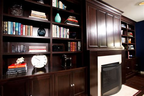 Admirable Built In Custom Bookshelf Around Fireplace With Custom Bookshelves Ideas