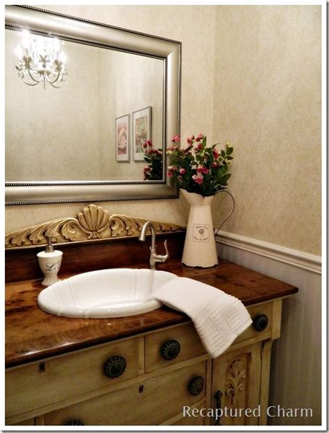 Antique Powder Room Vanity by Laundry Powder Room With Antique Vanity Recaptured Charm