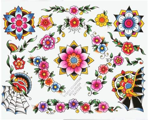 tattoo flash flowers traditional flower tattoo google zoeken just ink