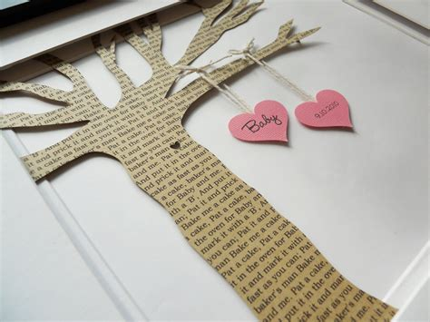 personalized baby shower gift baby nursery personalized paper tree baby by