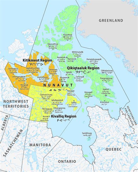 map us census regions list of regions of nunavut