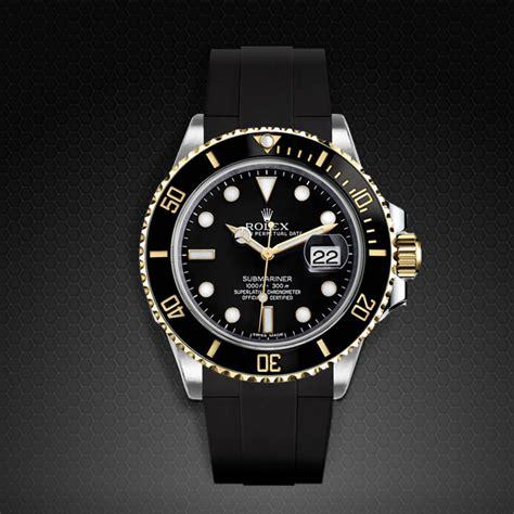 Strap for Rolex Submariner Ceramic   Glidelock Edition   Rubber B Watch Bands & Straps
