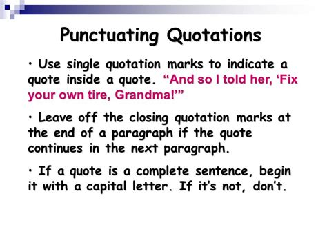 do you always put end punctuation inside quotation marks using quotations ppt download