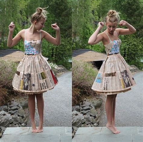 How To Make A Paper Dress To Wear - 25 best ideas about newspaper dress on paper
