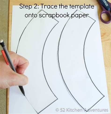 step 2 trace the template onto scrapbook paper 52