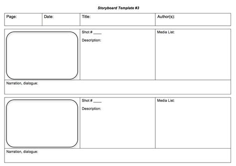 script storyboard template step by step production