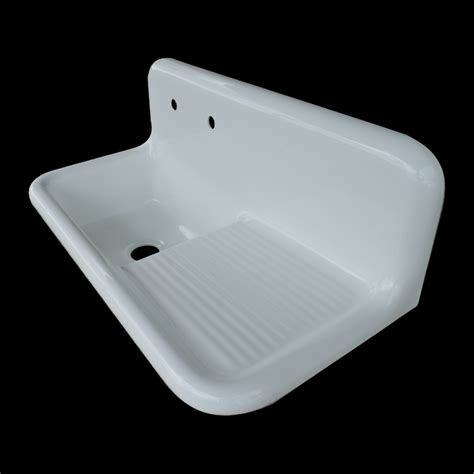 farmhouse kitchen sink with drainboard