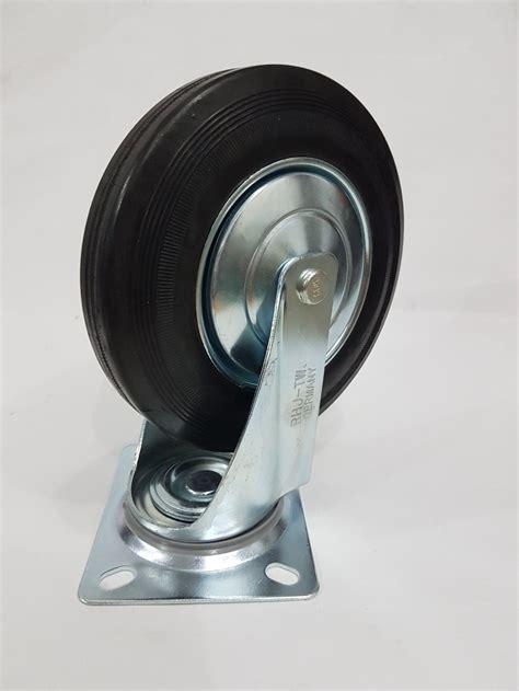 Roda 2 Putar Hidup jual roda troli 8 inchi tipe hidup roda gerobak trolley wheel roda etalase roda karet di