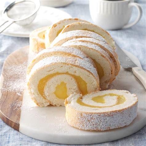 Easy Christmas Decorating Ideas Home Moist Lemon Angel Cake Roll Recipe Taste Of Home