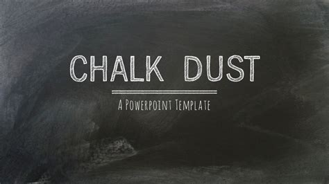dust template chalk dust powerpoint presentation template by 83munkis
